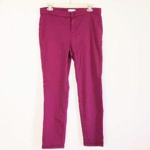 Lila Ryan Women's Jeans Sz 8 Maroon Skinny Stretch